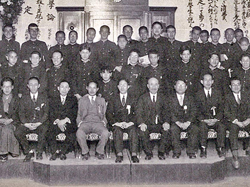 Shiro Arimoto(The center of the front row)